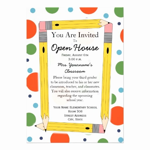 Open House Invitation Ideas Lovely Back to School Open House Invitation Zazzle