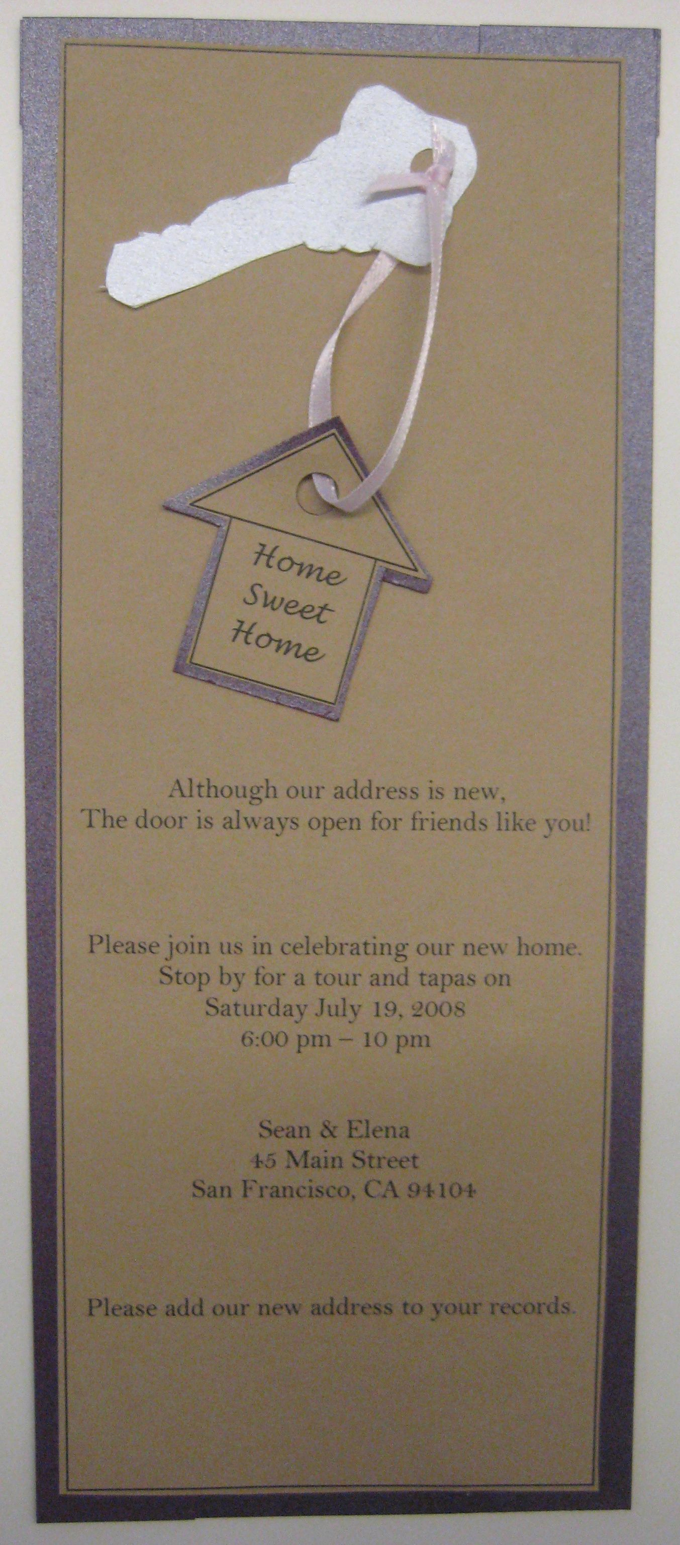 Open House Invitation Ideas Luxury E Party with Me Housewarming Party — Invite