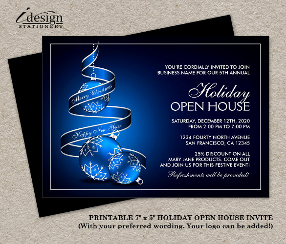 Open House Invitation Sample New 25 Open House Invitation Templates Free Sample Example