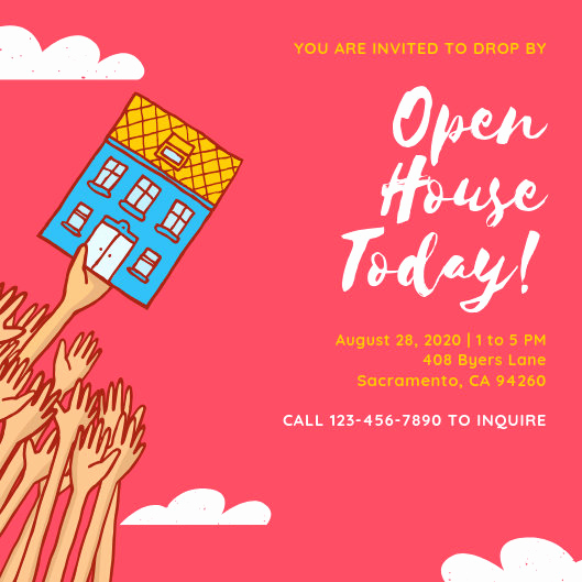 Open House Invitation Template Elegant Customize 186 Open House Invitation Templates Online Canva