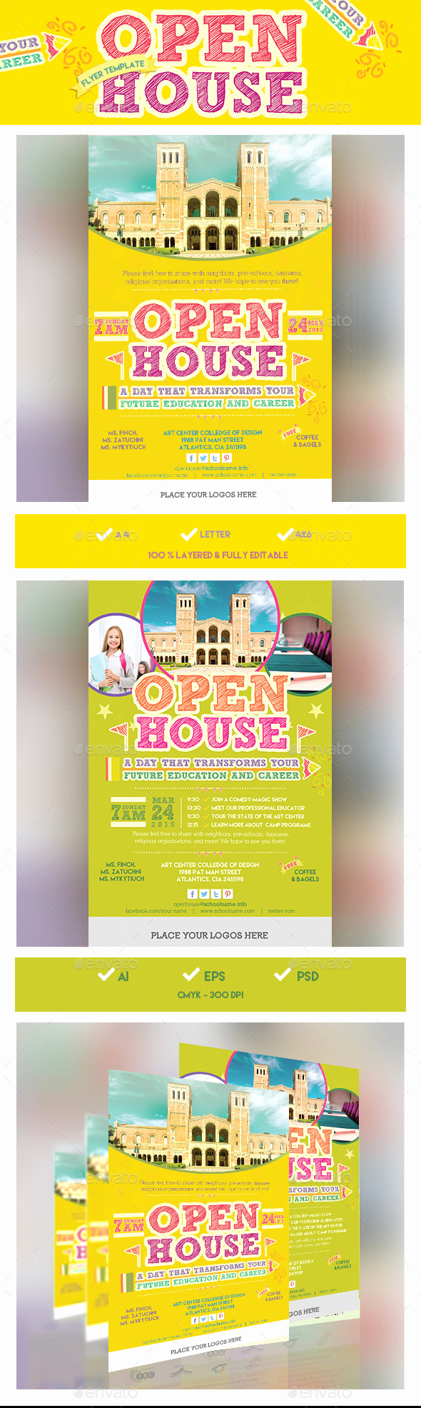 Open House Invitation Template Fresh School Open House Flyer Template Design Conference