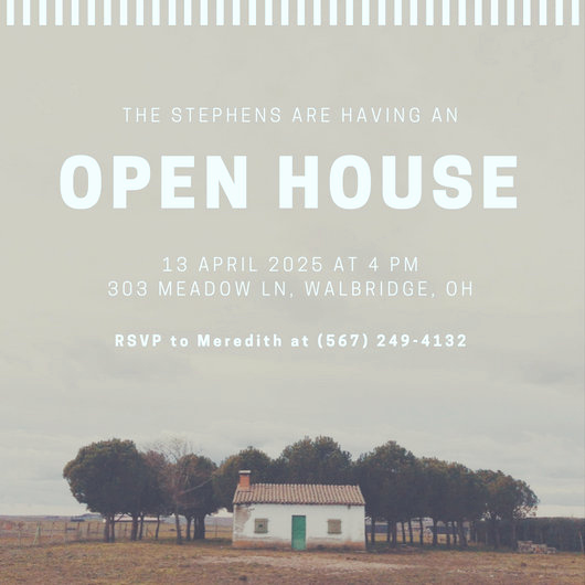Open House Invitation Template Lovely Customize 498 Open House Invitation Templates Online Canva
