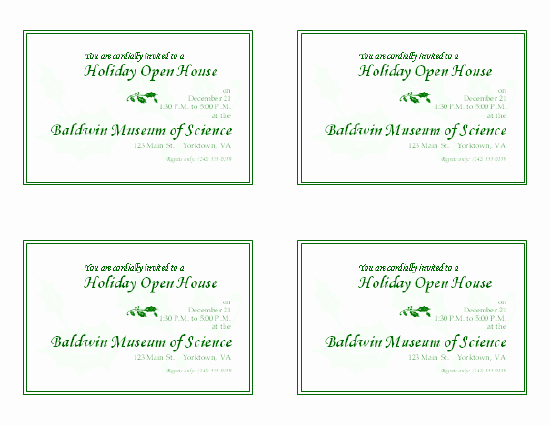 Open House Invitation Template New Download Free Printable Invitations Of Holiday Open House