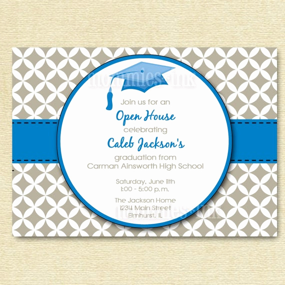 Open House Invitation Template New Items Similar to Graduation Invitation Open House