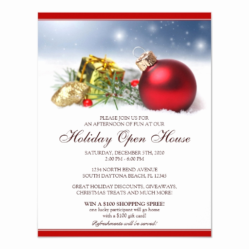 Open House Invitation Template Unique Festive Holiday Open House Invitations Template
