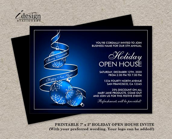 Open House Invitation Wording Awesome Elegant Business Holiday Open House Invitations Corporate