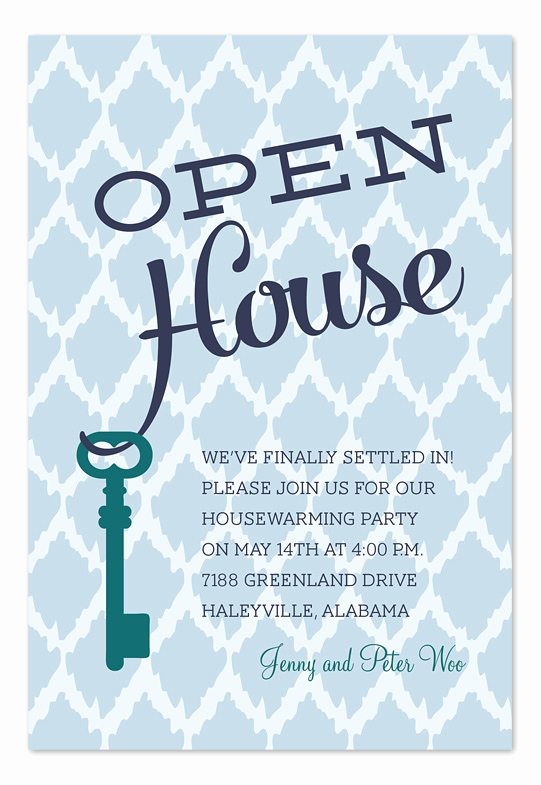 Open House Party Invitation Wording Elegant Open House Key Party Invitations by Invitation