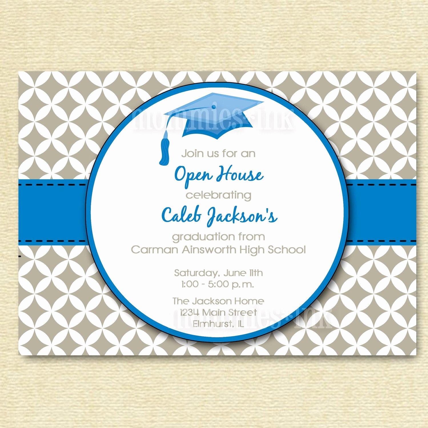 Open House Party Invitation Wording Luxury Graduation Invitation Open House Invitation by Mommiesink