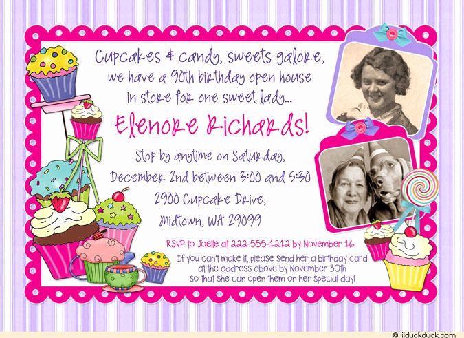 Open House Party Invitation Wording Luxury Wording for 90th Birthday Invitations