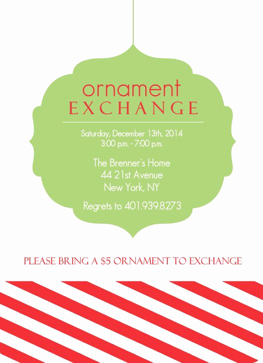 Ornament Exchange Invitation Wording Best Of 17 Best Images About Christmas Tree themes On Pinterest