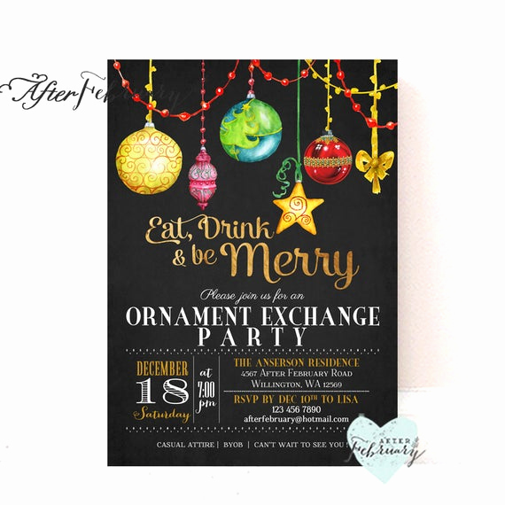 Ornament Exchange Invitation Wording Fresh ornament Exchange Invitation Holiday Party Invitations Holiday