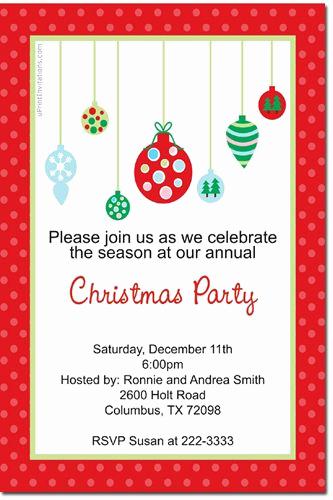 Ornament Exchange Invitation Wording Lovely ornament Exchange Christmas Party Invitations