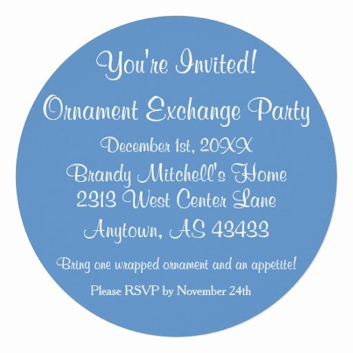 Ornament Exchange Invitation Wording Luxury Personalizeable ornament Exchange Party Invites