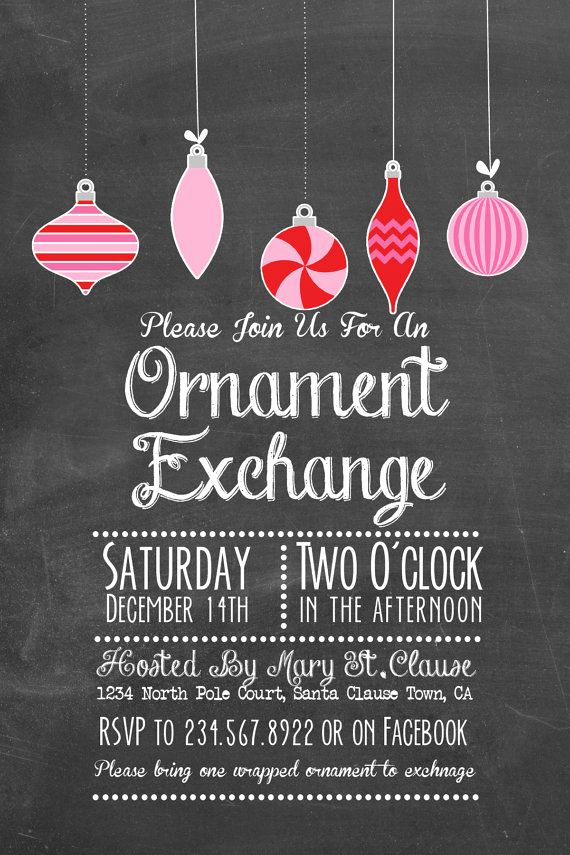 Ornament Exchange Invitation Wording Unique 16 Best ornament Exchange Images On Pinterest