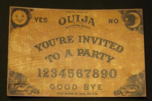 Ouija Board Invitation Template Beautiful Ouija Board Party Invitation
