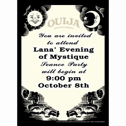 Ouija Board Invitation Template Best Of Hasbro Ouija Board Invitations Shindigz