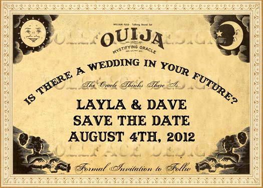 Ouija Board Invitation Template Best Of Vintage Sepia Ouija Board Printable Save the Date Cards