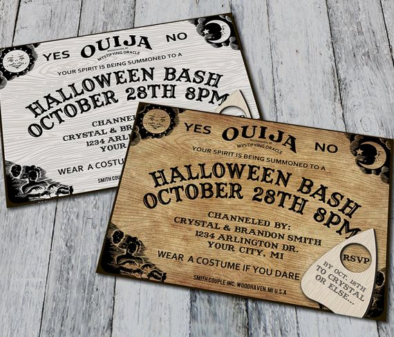 Ouija Board Invitation Template Elegant Pin by Heidi Melton On Queen Of Halloween
