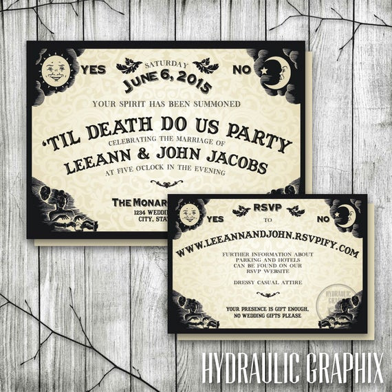 Ouija Board Invitation Template Fresh Ouija Board Invitation for Wedding Reception Halloween