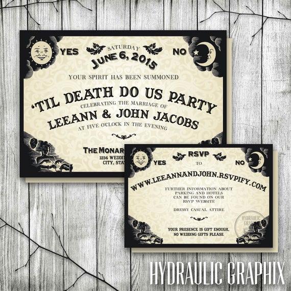 Ouija Board Invitation Template Fresh Ouija Board Invitation for Wedding Reception Halloween