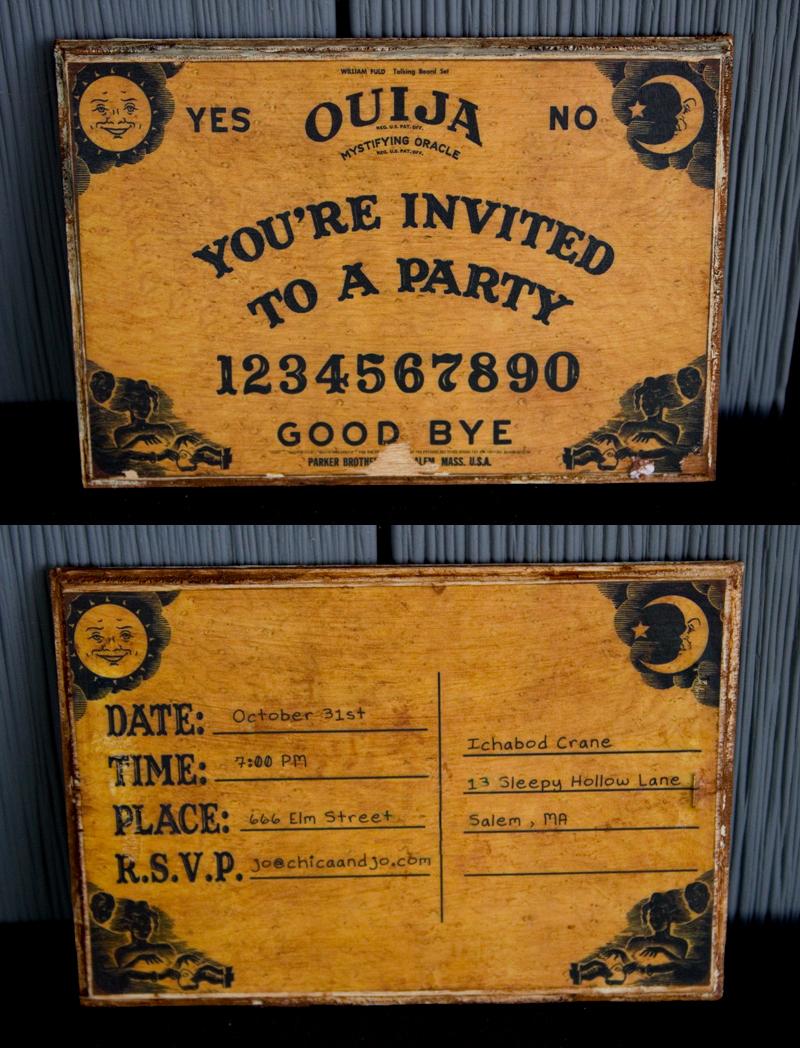 Ouija Board Invitation Template Fresh Ouija Board Party Invitation