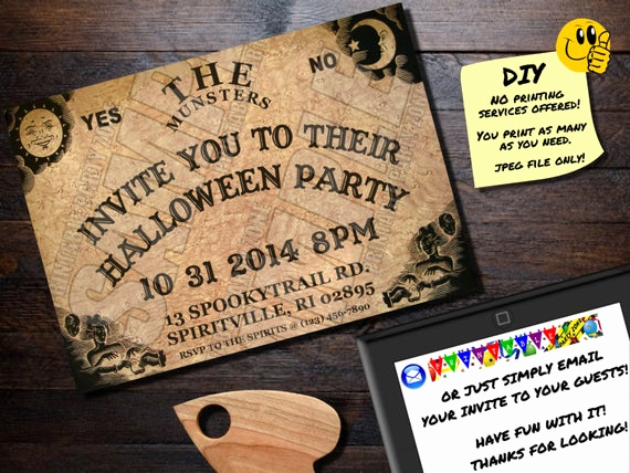 Ouija Board Invitation Template Unique Halloween Invitation Ouija Board Printable Invite Emailable