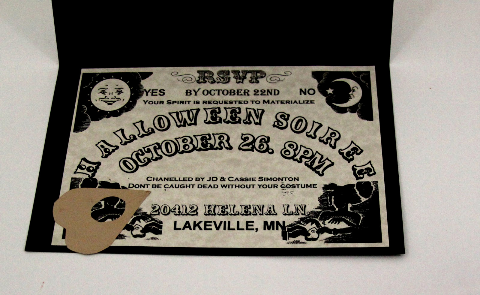 Ouija Board Invitation Template Unique I Do A Dime Ouija Board Invitations