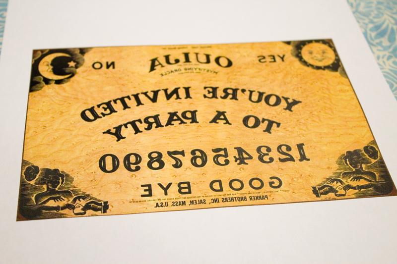 Ouija Board Invitation Template Unique Ouija Board Party Invitation