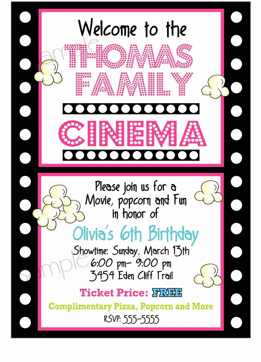 Outdoor Movie Night Invitation Best Of Movie Night Invitations Movie Night Birthday Party