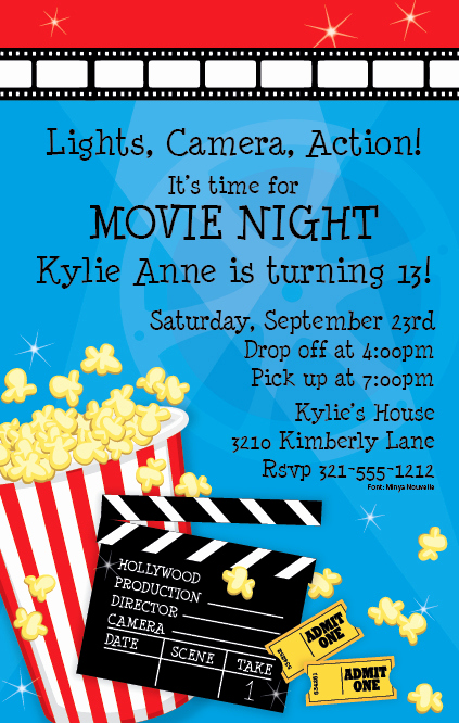Outdoor Movie Night Invitation Best Of Outdoor Movie Night Invitation Wording