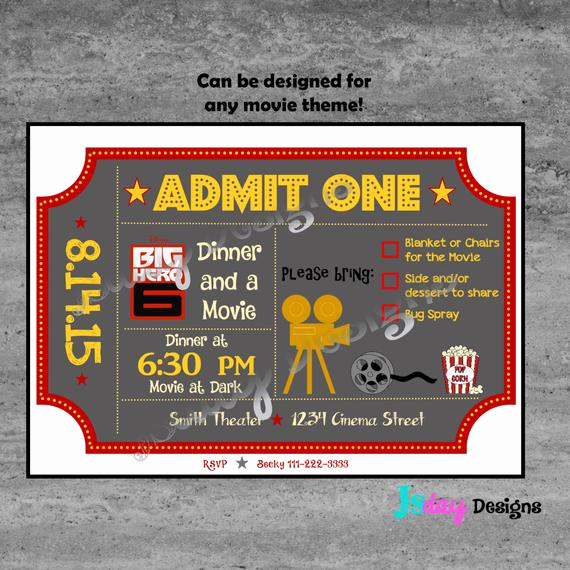 Outdoor Movie Night Invitation Fresh Movie Invite Movie Night Invitation Outdoor Movie Invite