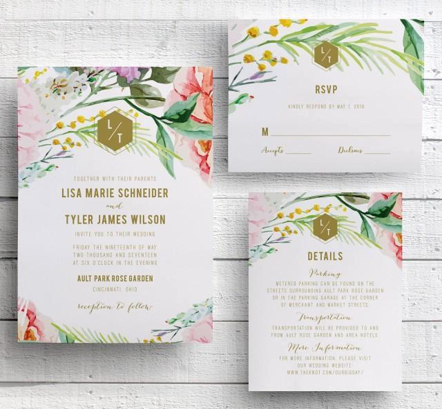 Outdoor Wedding Invitation Wording Best Of Spring Floral Wedding Invitation Garden Floral Botanical