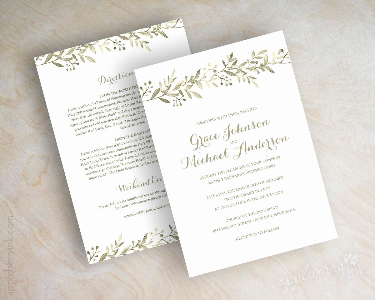 Outdoor Wedding Invitation Wording Fresh Botanical Garden Wedding Invitations Vineyard Italian