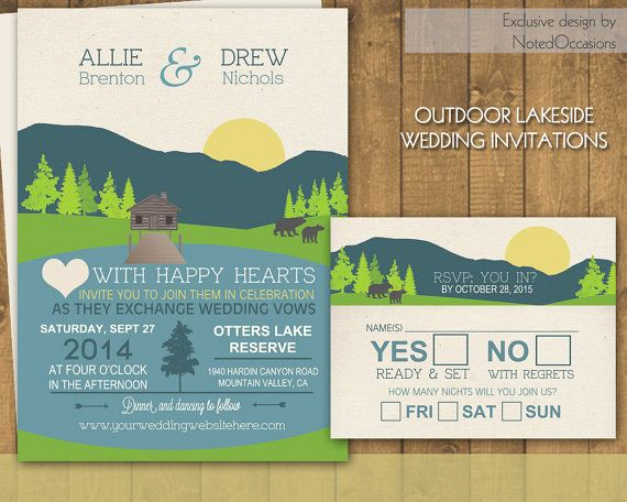 Outdoor Wedding Invitation Wording Fresh Mountain Wedding Invitations Suite Campground Camping