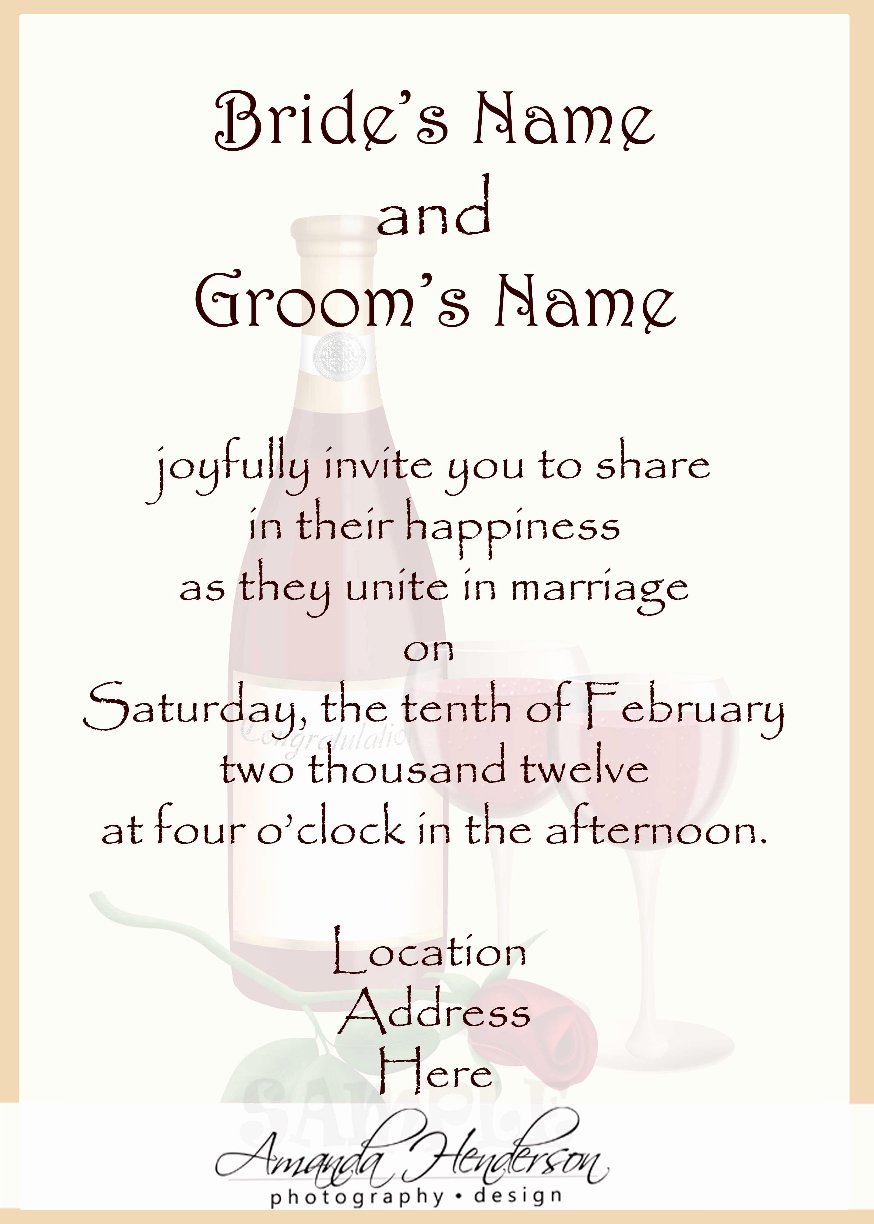Outdoor Wedding Invitation Wording Fresh Wedding Invitation Wording Samples