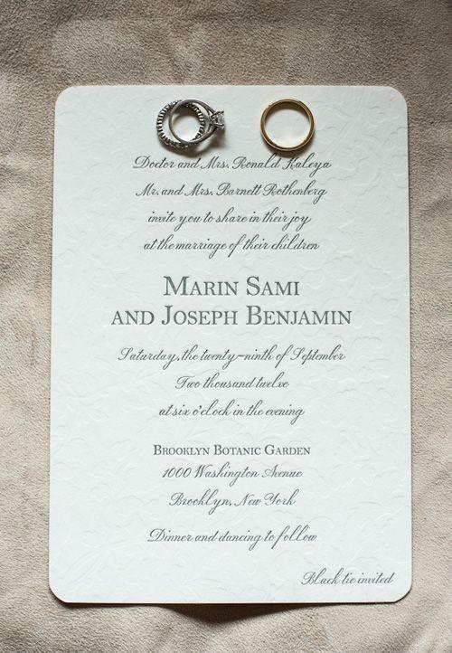 Outdoor Wedding Invitation Wording Inspirational A formal Fall Wedding at Brooklyn S Botanic Garden