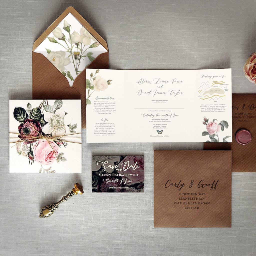 Outdoor Wedding Invitation Wording New English Garden Folding Wedding Invitation by Feel Good