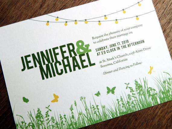 Outdoor Wedding Invitation Wording Unique Printable Wedding Invitations Garden Party String Lights