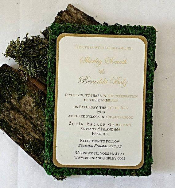Outdoor Wedding Invitation Wording Unique Rustic Wedding Invitations Garden themed Moss Wedding
