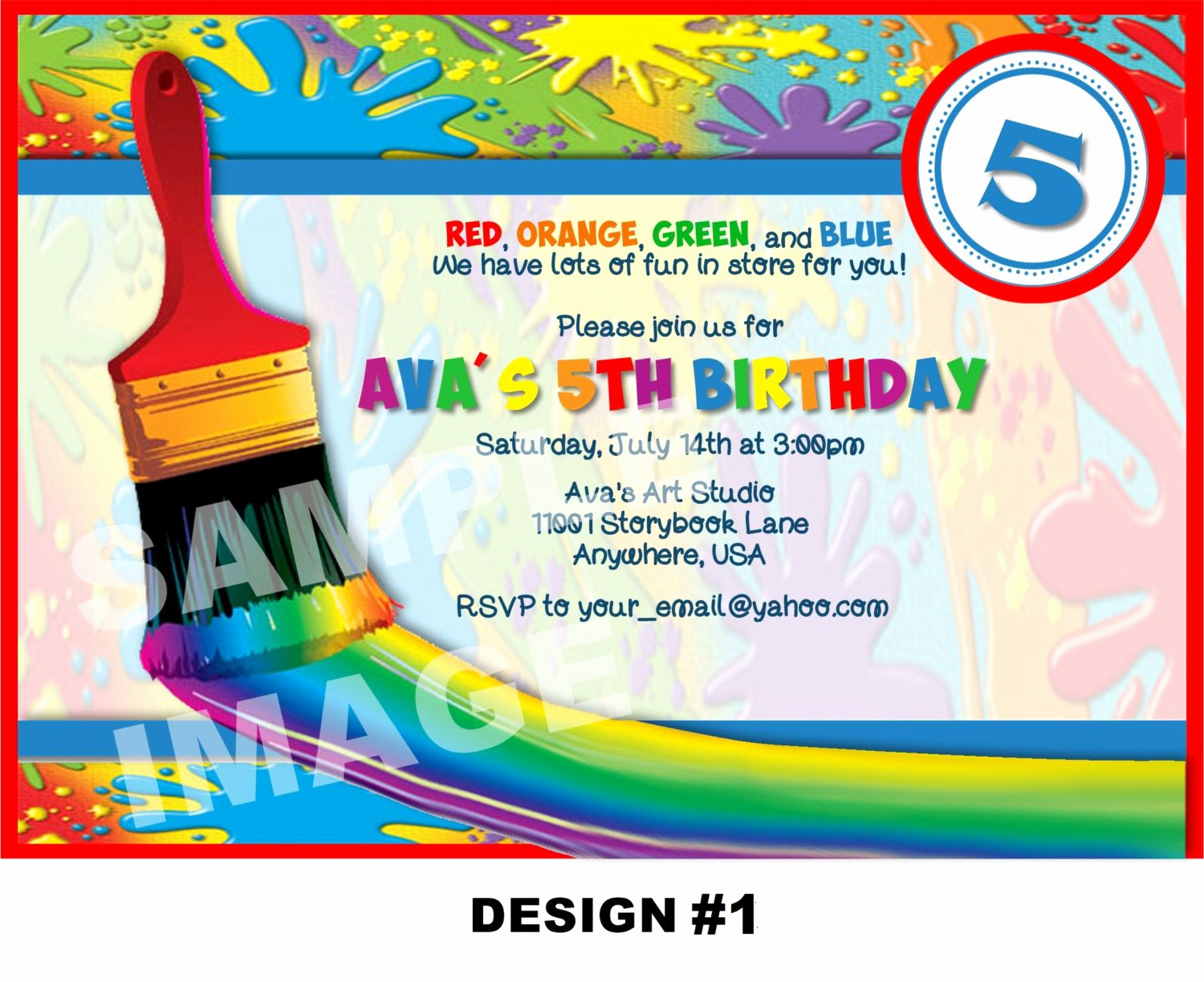 Paint Palette Invitation Template Awesome Art Party Invitation Art Invitation Painting Birthday