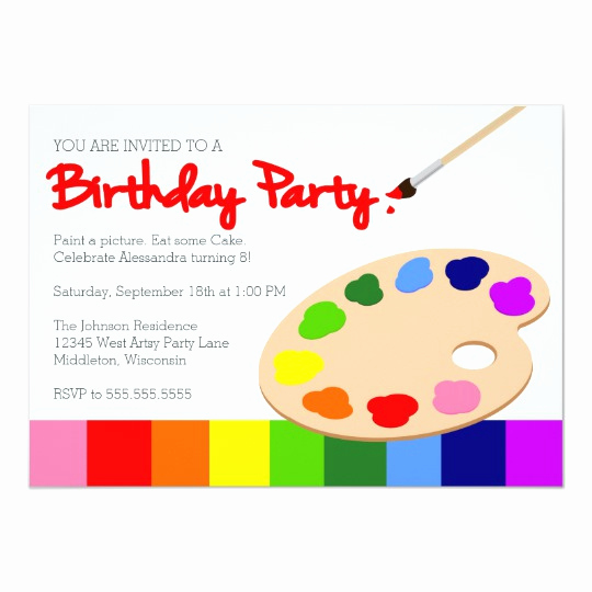 Paint Palette Invitation Template Best Of Rainbow Poop Emoji Birthday Invitation