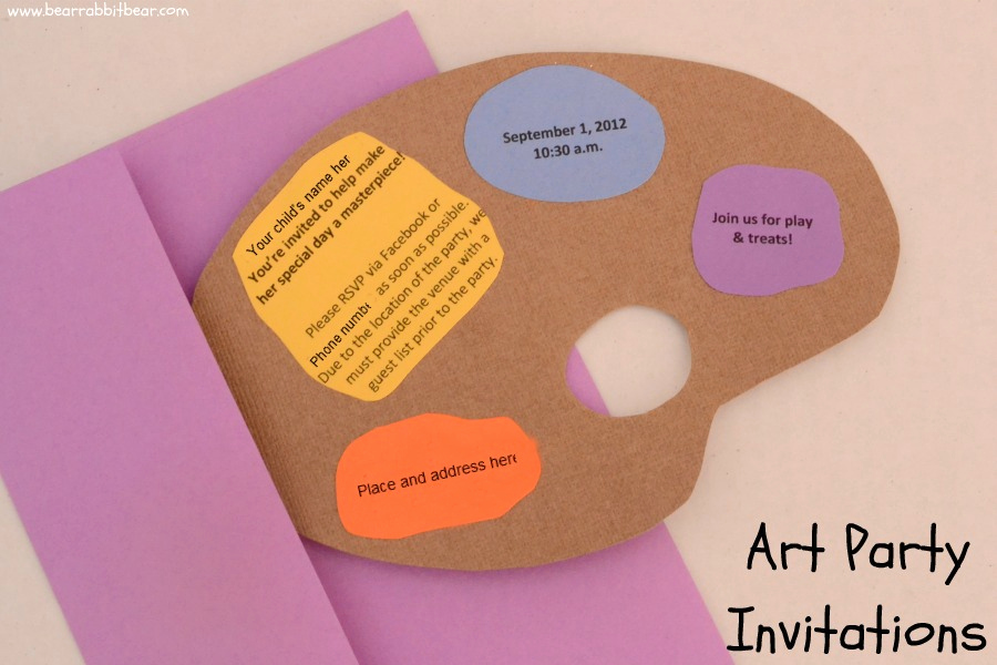 Paint Palette Invitation Template Unique Art Party Invitations the Art Palette