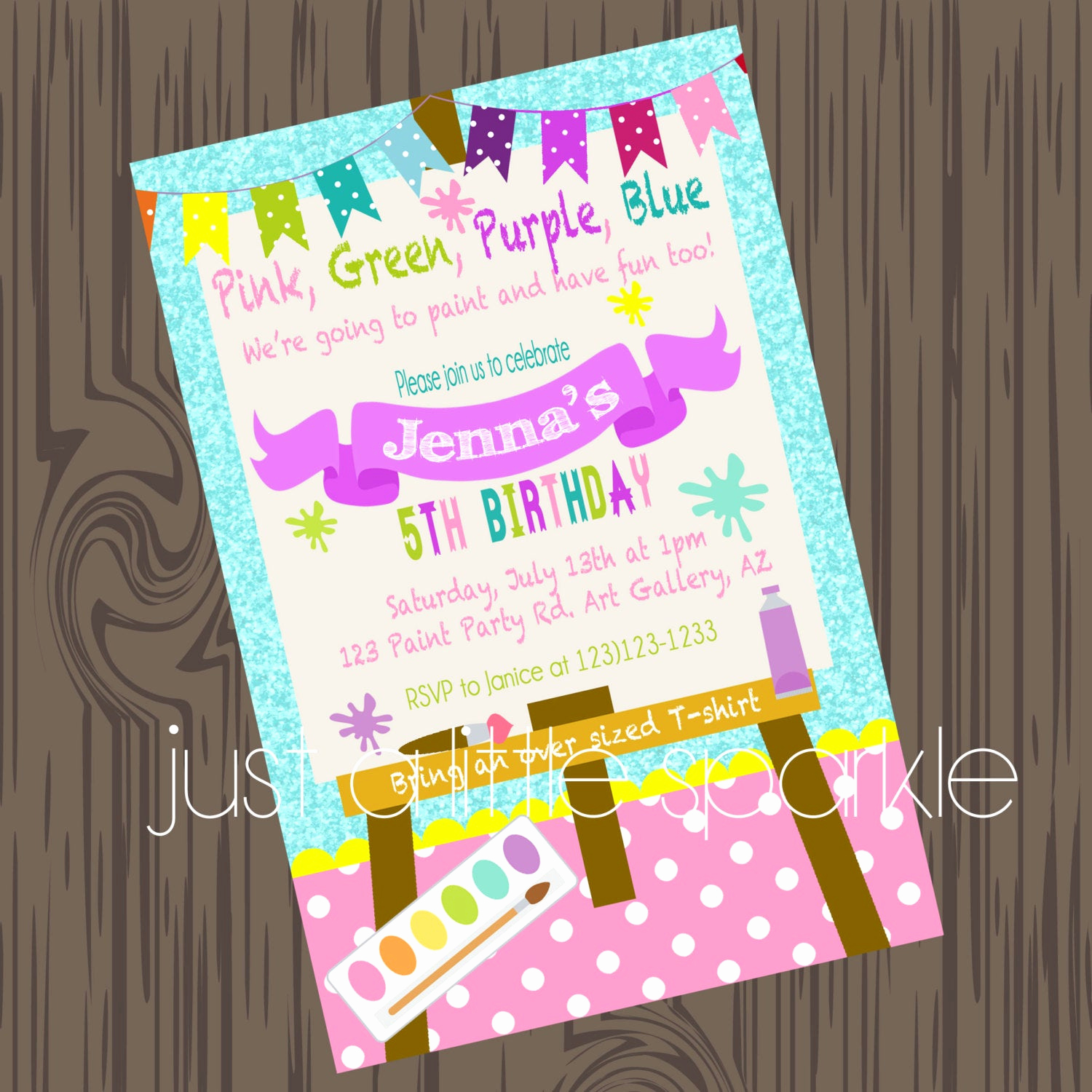 Paint Party Invitation Wording Beautiful Paint Party Invitation Art Supply Party Invitation Paint