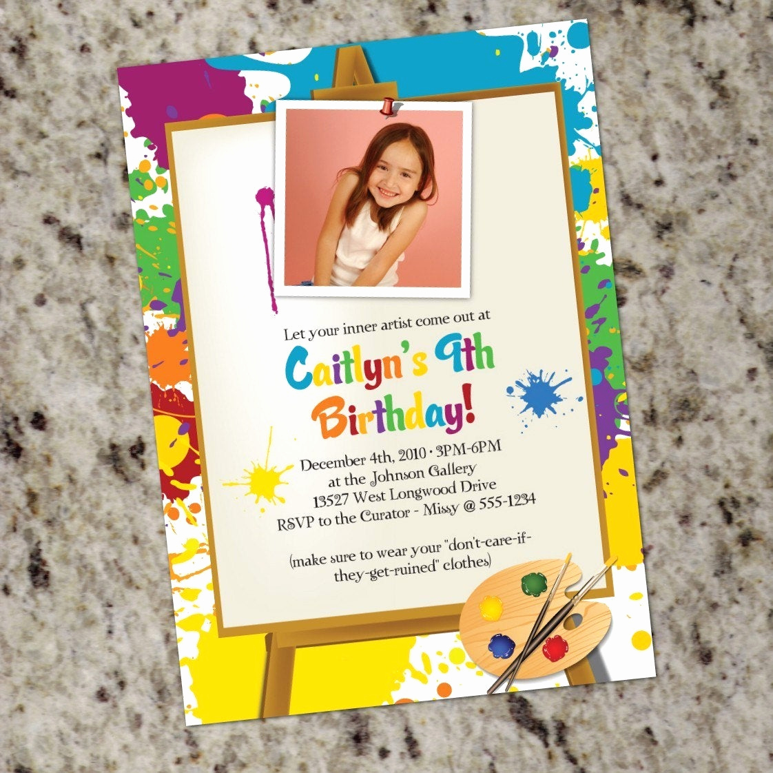 Paint Party Invitation Wording Fresh Little Artist Art Painting Birthday Party Invitations
