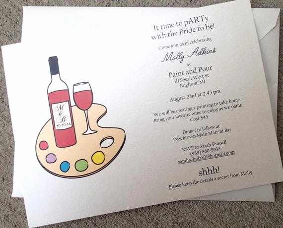 Paint Party Invitation Wording Lovely Items Similar to Wine Party Invitation Drink and Paint