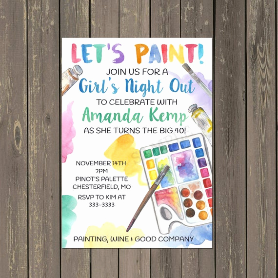 Paint Party Invitation Wording New Painting Party Invitation Adult Painting Party Invitation