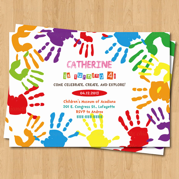 Painting Party Invitation Template Inspirational Art themed Birthday Party Invitations