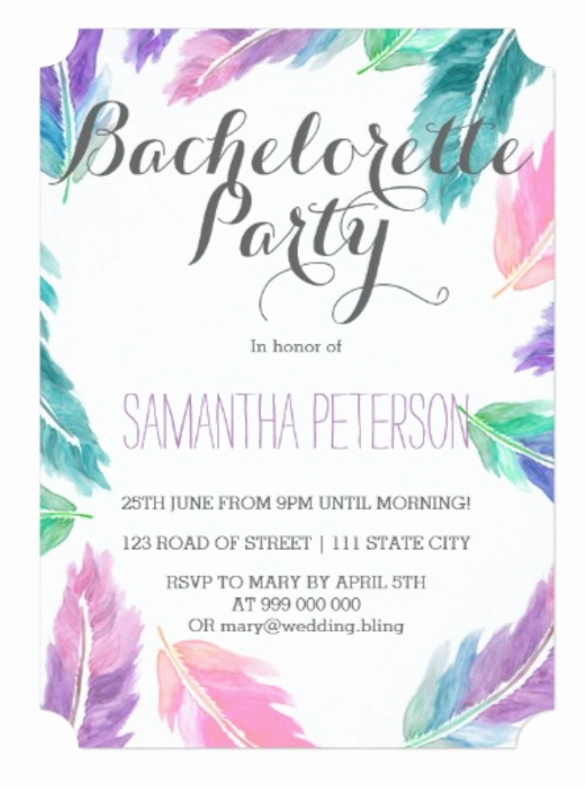 Painting Party Invitation Template Luxury 32 Bachelorette Invitation Templates Psd Ai Word