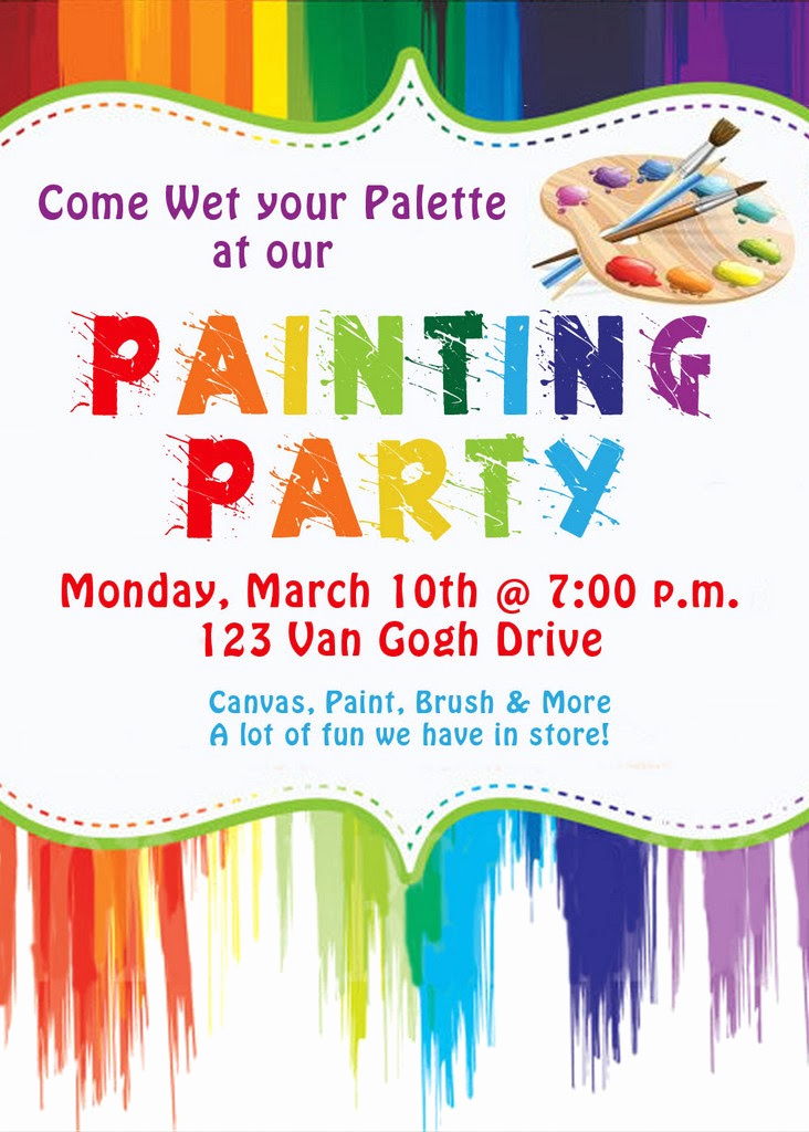 Painting Party Invitation Wording Awesome Invite and Delight Painting Party