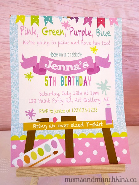 Painting Party Invitation Wording Elegant Art Birthday Party Ideas for Kids Moms & Munchkins